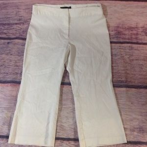 Express Womens Dress Pants Capris Crop White 11/12
